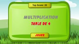 Jeu De Math Table De Multiplication De 4 270x152