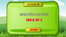 Jeu De Math Table De Multiplication De 5 270x152